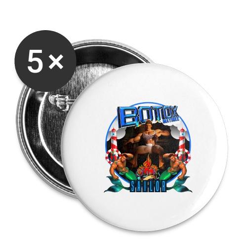 BOTOX MATINEE SAILOR T-SHIRT - Buttons large 2.2'' (5-pack)