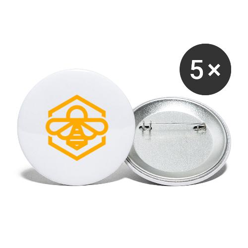 bee symbol orange - Buttons large 2.2'' (5-pack)