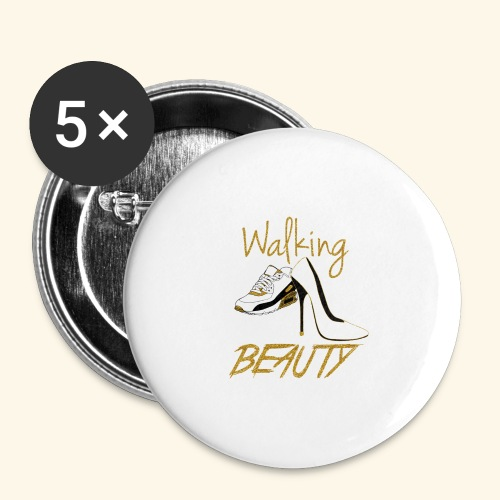 Walking in your Beauty tshirt - Buttons large 2.2'' (5-pack)