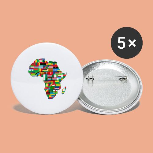 Africa Map Countries - Buttons large 2.2'' (5-pack)