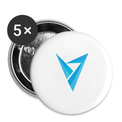 v logo - Buttons large 2.2'' (5-pack)