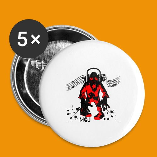 Music Zombie - Buttons large 2.2'' (5-pack)