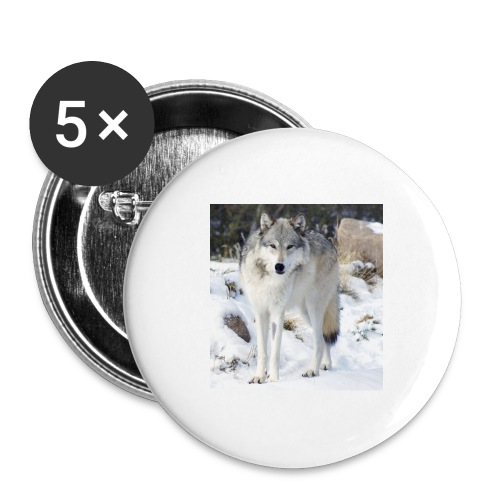 Canis lupus occidentalis - Buttons large 2.2'' (5-pack)