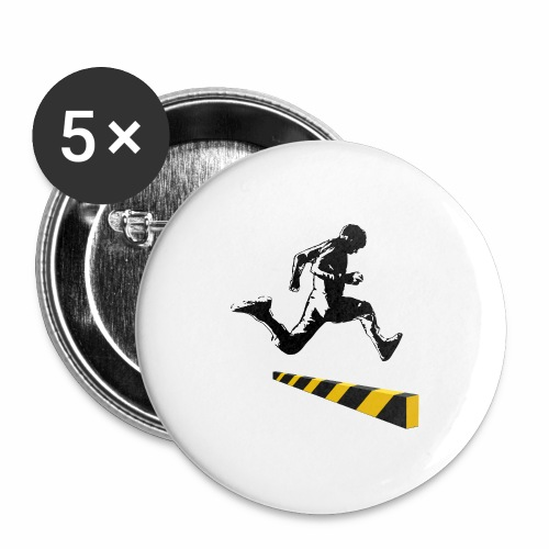 Leaping The Bounds of Caution - Buttons large 2.2'' (5-pack)