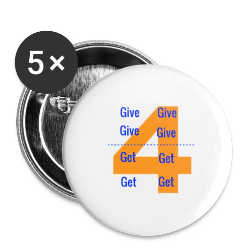 Forgive & Forget - Buttons large 2.2'' (5-pack)