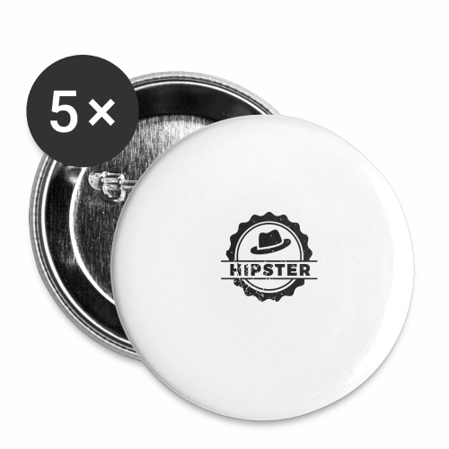 hipster6 - Buttons large 2.2'' (5-pack)