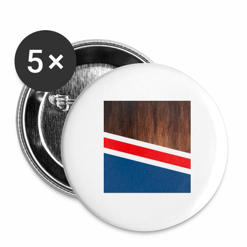 Wooden stripes - Buttons large 2.2'' (5-pack)