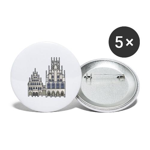 Town Hall Münster, Cityhall, Mayor - Buttons large 2.2'' (5-pack)