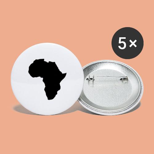 Africa Map Silhouette - Buttons large 2.2'' (5-pack)
