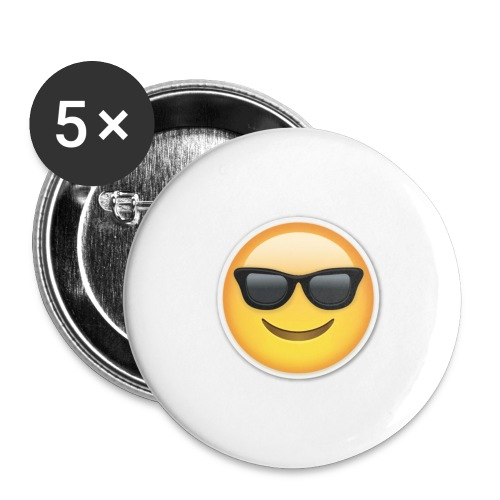 sunglasses emojicon mug & phone case - Buttons large 2.2'' (5-pack)