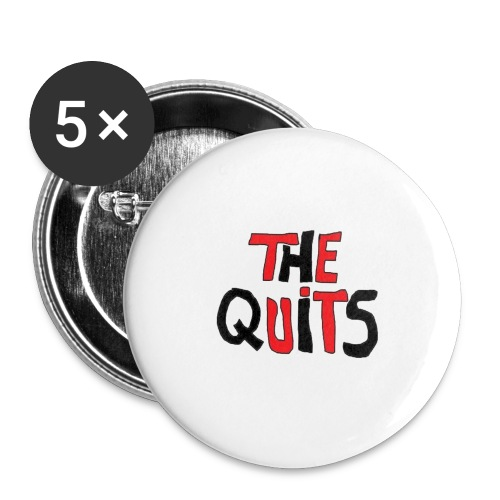 quits logo - Buttons large 2.2'' (5-pack)