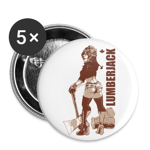 Lumberjack - Buttons large 2.2'' (5-pack)