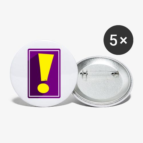 Purple Whee! Shadow Exclamation Point - Buttons large 2.2'' (5-pack)