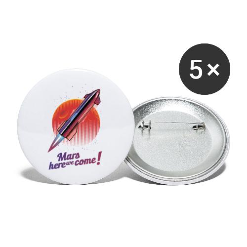 Mars Here We Come - Light - Buttons large 2.2'' (5-pack)