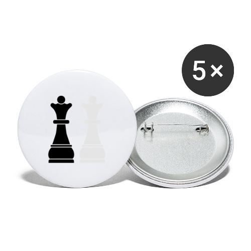 Chess Queens - Buttons large 2.2'' (5-pack)