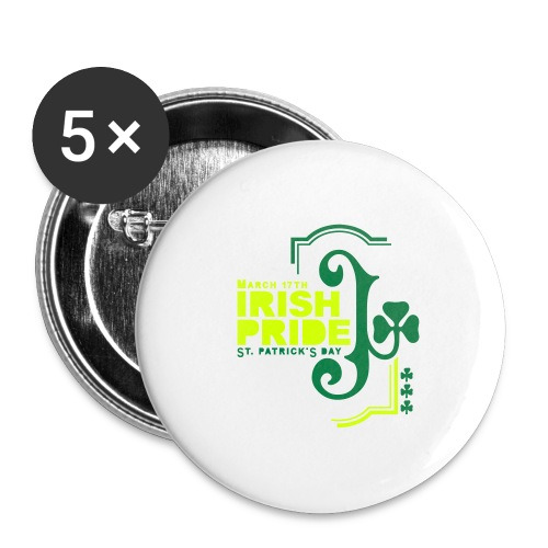IRISH PRIDE - Buttons large 2.2'' (5-pack)