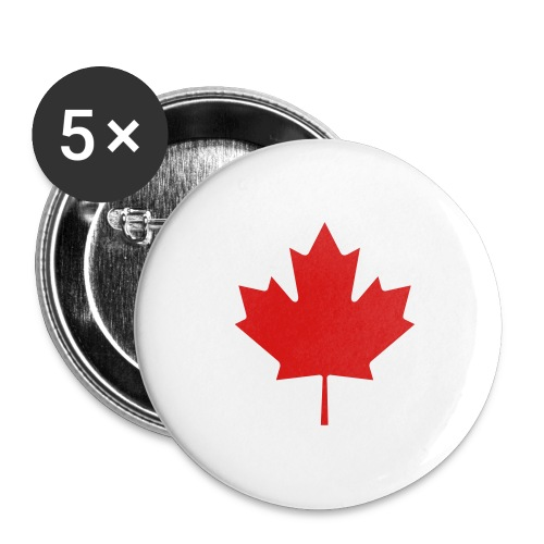Maple Leaf - Buttons large 2.2'' (5-pack)
