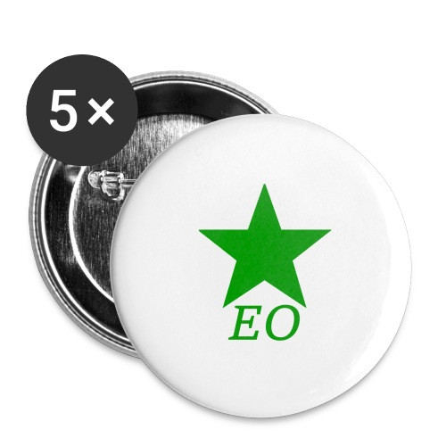 EO and Green Star - Buttons large 2.2'' (5-pack)