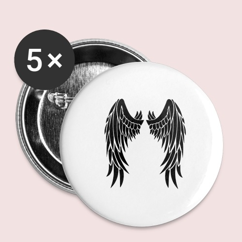 Angel wings - Buttons large 2.2'' (5-pack)