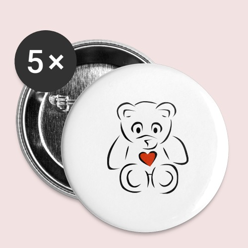 Sweethear - Buttons large 2.2'' (5-pack)
