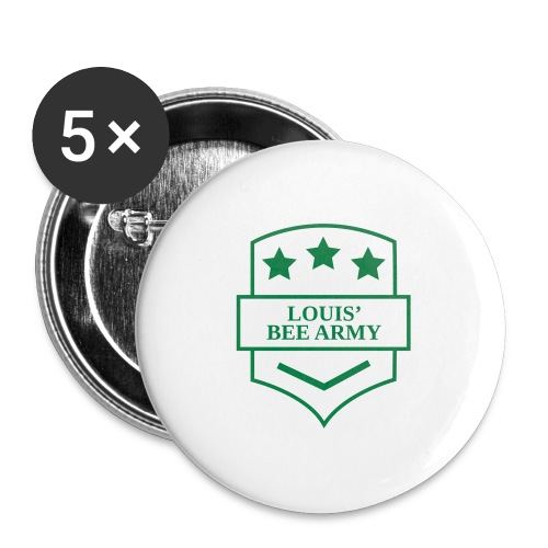 Louis' Bee Army - Buttons large 2.2'' (5-pack)