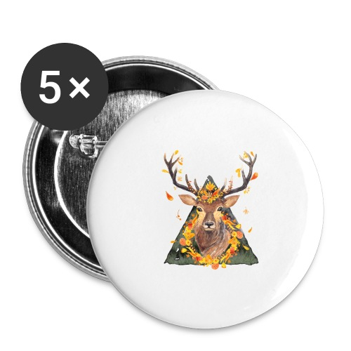 The Spirit of the Forest - Buttons large 2.2'' (5-pack)