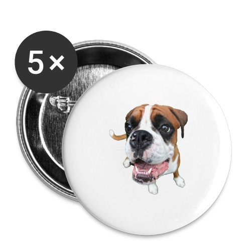Boxer Rex the dog - Buttons large 2.2'' (5-pack)