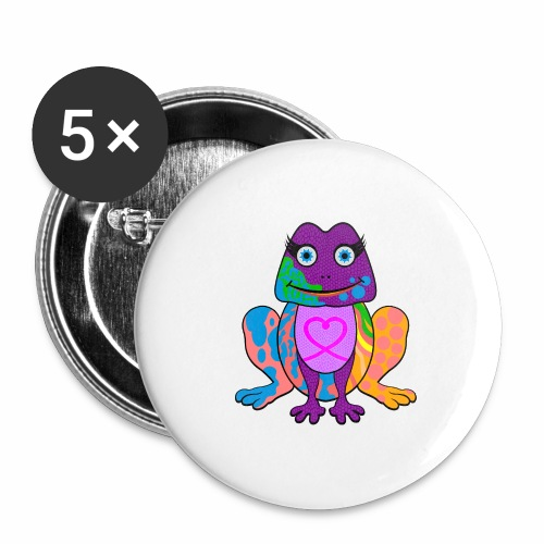 I heart froggy - Buttons large 2.2'' (5-pack)