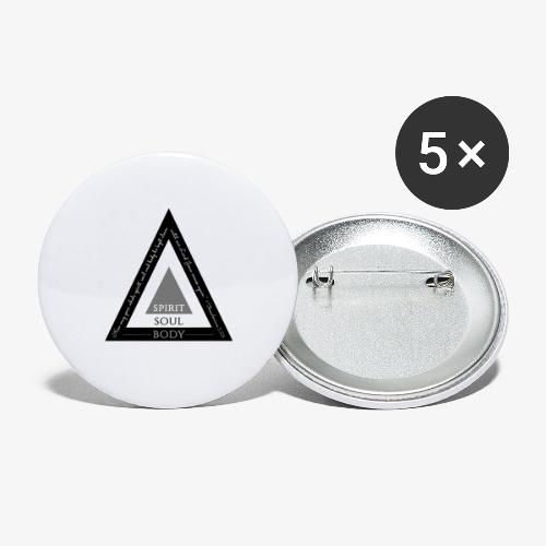 Spirit Soul Body - Buttons large 2.2'' (5-pack)