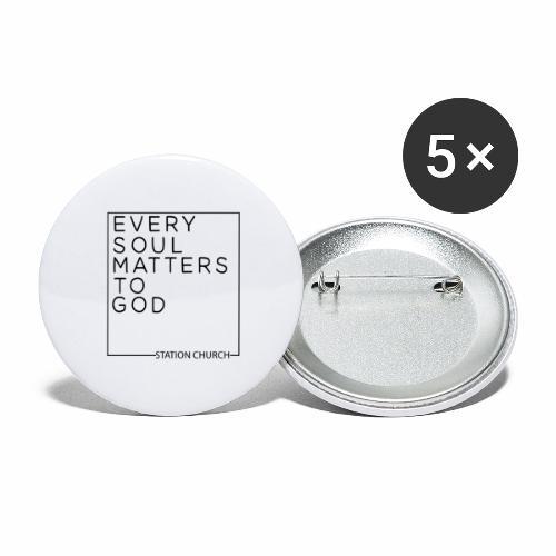 ESMTG Black - Buttons large 2.2'' (5-pack)
