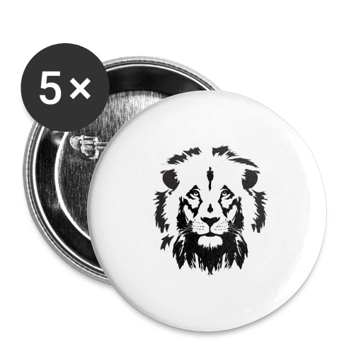 Lion head - Buttons large 2.2'' (5-pack)