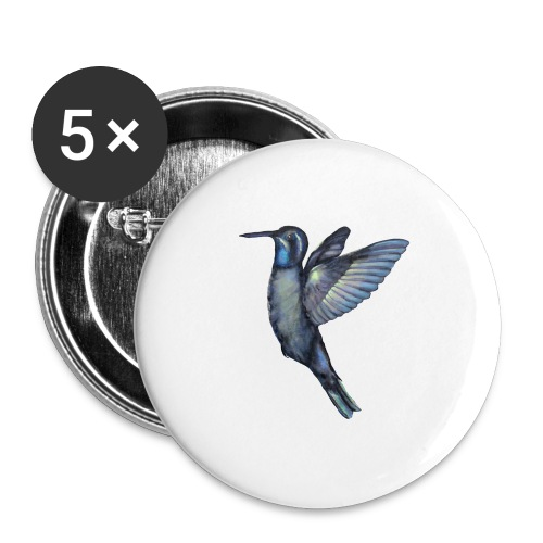 Hummingbird in flight - Buttons large 2.2'' (5-pack)
