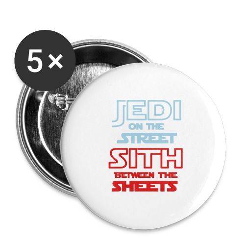 Jedi Sith Awesome Shirt - Buttons large 2.2'' (5-pack)