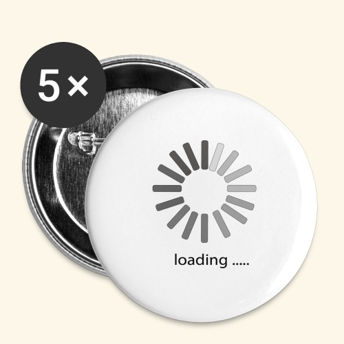 poster 1 loading - Buttons large 2.2'' (5-pack)