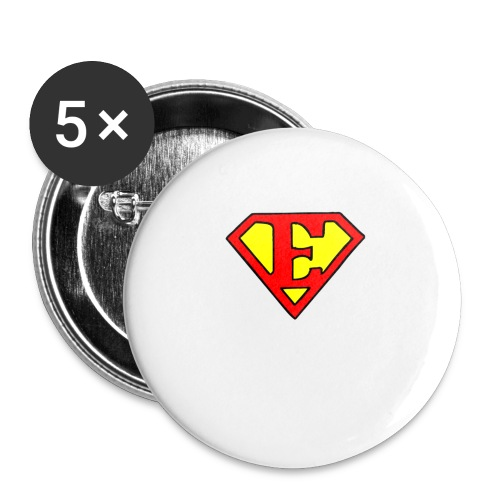 super E - Buttons large 2.2'' (5-pack)