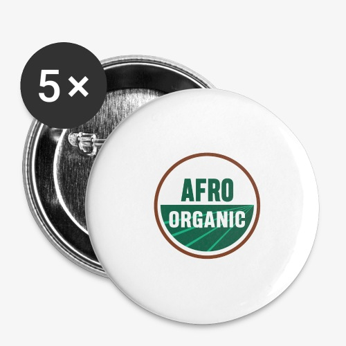 Afro Organic - Buttons large 2.2'' (5-pack)