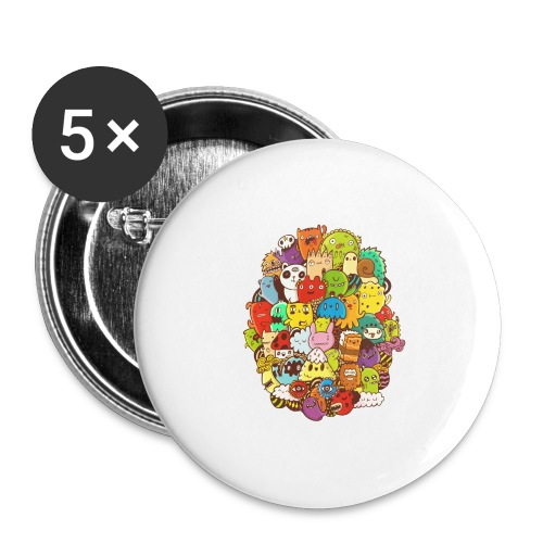 Doodle for a poodle - Buttons large 2.2'' (5-pack)