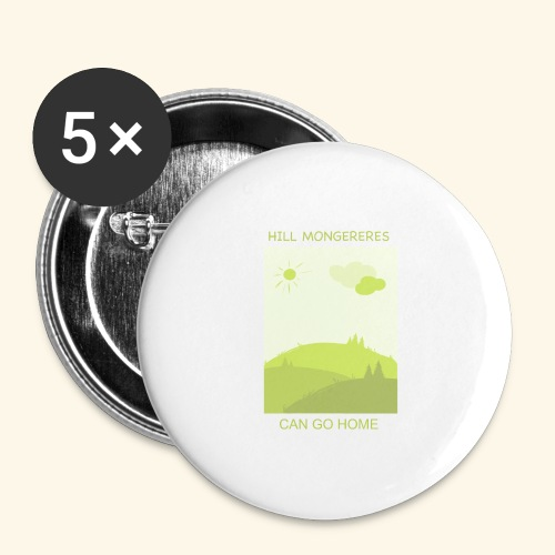 Hill mongereres - Buttons large 2.2'' (5-pack)