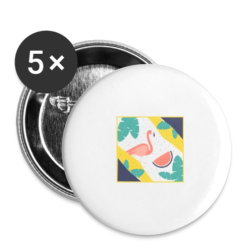 Flamingo - Buttons large 2.2'' (5-pack)