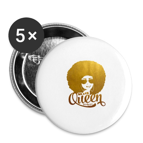 Black Queen - Buttons large 2.2'' (5-pack)
