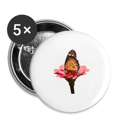 Monarch Butterfly on Flower - Buttons large 2.2'' (5-pack)
