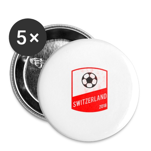 Switzerland Team - World Cup - Russia 2018 - Buttons large 2.2'' (5-pack)