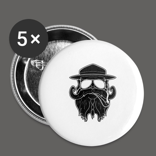 OldSchoolBiker - Buttons large 2.2'' (5-pack)