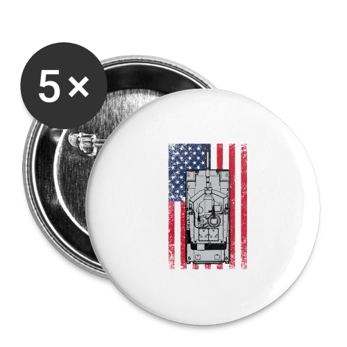 4th of July - Buttons large 2.2'' (5-pack)