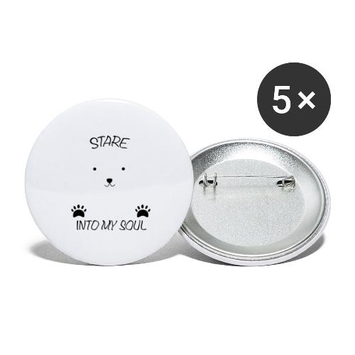 Polar Bear Stare - Buttons large 2.2'' (5-pack)
