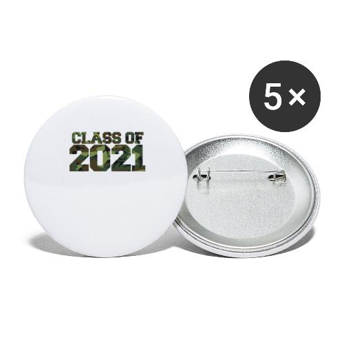Class of 2021 CAMO - Buttons large 2.2'' (5-pack)