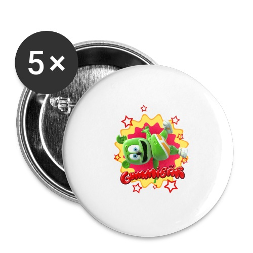 Gummibär Starburst - Buttons large 2.2'' (5-pack)