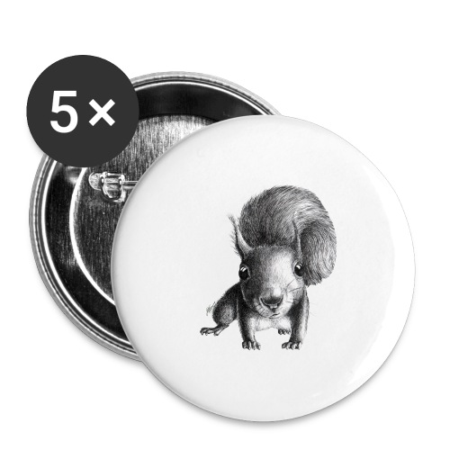 Cute Curious Squirrel - Buttons large 2.2'' (5-pack)