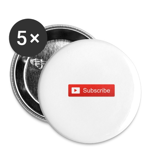 YOUTUBE SUBSCRIBE - Buttons large 2.2'' (5-pack)