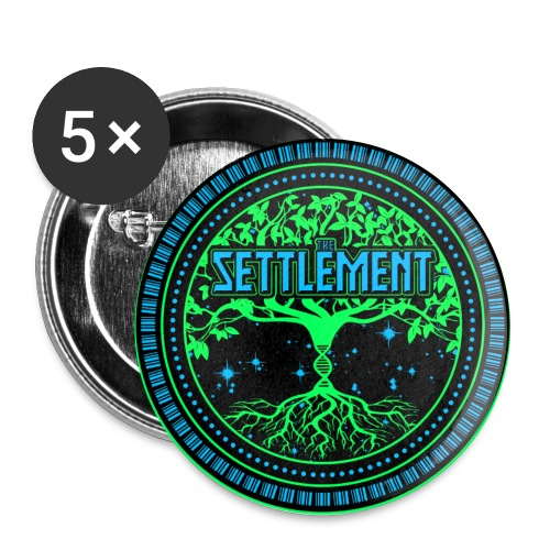 Full Color Logo | The Settlement - Buttons large 2.2'' (5-pack)
